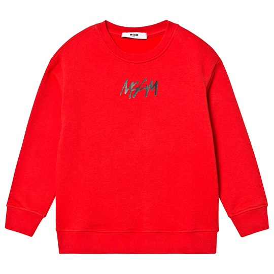 MSGM Logo Sweatshirt Red 004