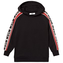 MSGM Knitted Tape Logo Sweat Dress Black