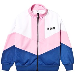 MSGM Shell Suit Track Top Pink/Blue/White