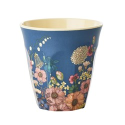 Rice Medium Melamine Cup Flower Collage Print