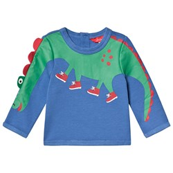 Tom Joule Dino Arm Boo Sweatshirt Blue