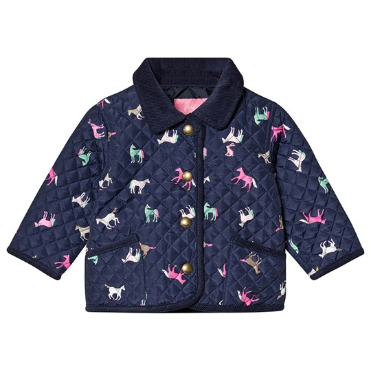 Tom Joule Mabel Horse Quilted Jacket Navy NAVY HORSES