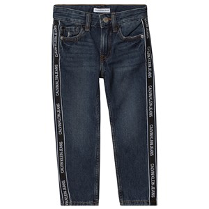 Image of Calvin Klein Jeans Logo Tape Jeans [mid_wash_denim_29121] 8 years (1374953)