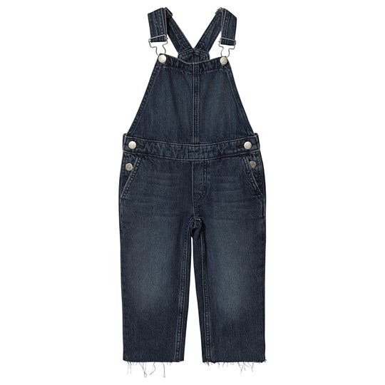 Calvin Klein Jeans Cropped Leg Overalls Blue Mid Wash 911