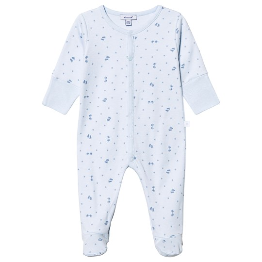 Absorba Star Print Footed Baby Body Pale Blue 41