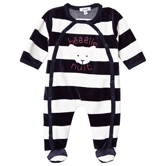 Absorba Stripe Sheep Footed Baby Body Navy/White 04