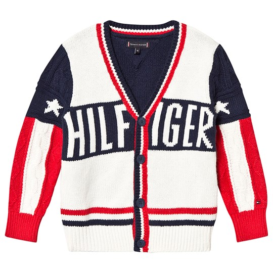 Tommy Hilfiger Branded Knit Cardigan White/Red/Navy YAL