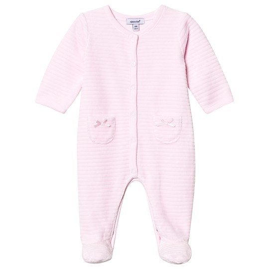 Absorba Quilted Velour Footed Baby Body Pink 30