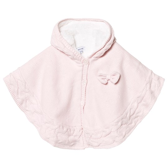 Absorba Knitted Bow Poncho Pale Pink 30