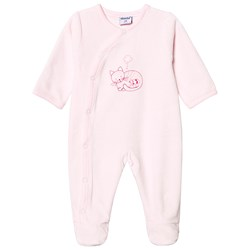 Absorba Cat and Mouse Footed Baby Body Pale Pink