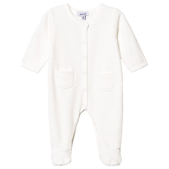 Absorba Quilted Velour Footed Baby Body Cream 11