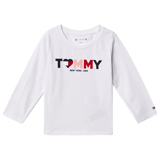 Tommy Hilfiger Heart Tommy Logo Long Sleeve Tee White 123
