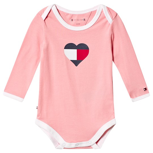 Tommy Hilfiger Tommy Heart Logo Baby Body Pink 639