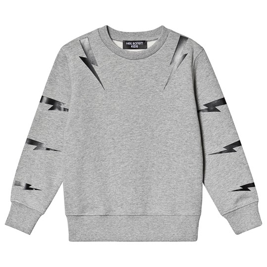 Neil Barrett Lightning Bolt Sleeve Sweatshirt Grey 101