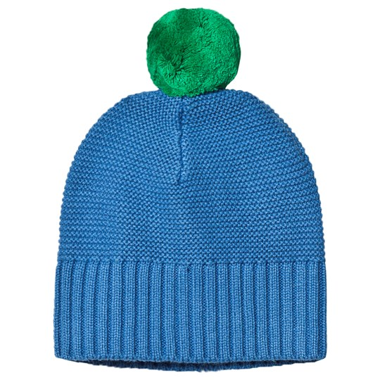 Stella McCartney Kids Pom-Pom Knit Beanie Blue/Green 4262