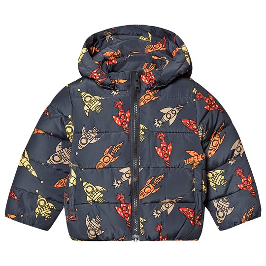 Stella McCartney Kids Boblejakke Multi Rocket Print Mørkgrå 1168