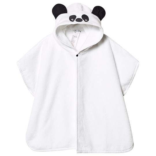 Absorba Panda Hooded Towel White 01