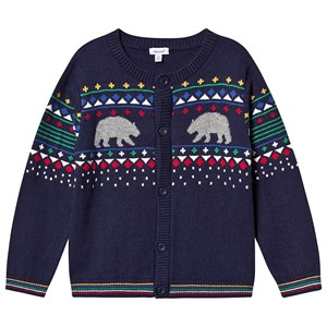 Bilde av Absorba Bear Fairisle Knitted Cardigan Navy 12 Months