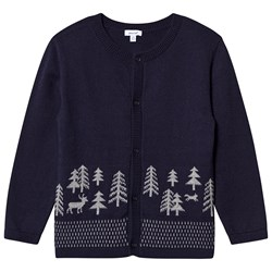 Absorba Forest Knit Cardigan Navy