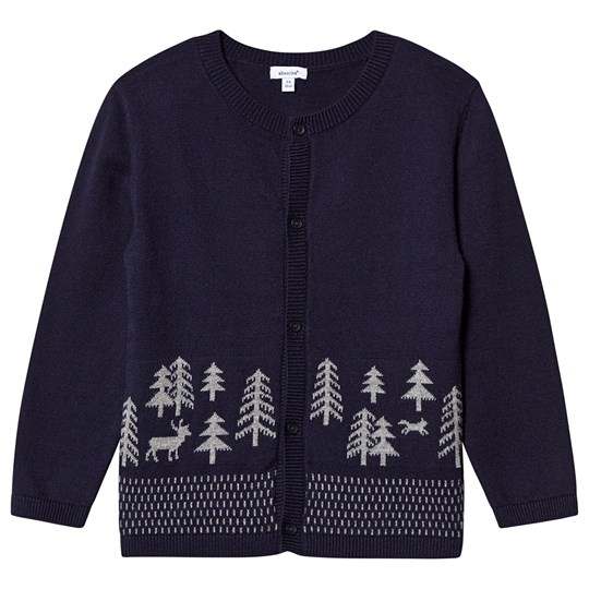 Absorba Forest Knit Cardigan Navy 04