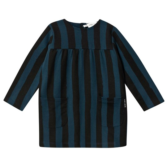 Sproet & Sprout Turquoise Painted Stripe Dress with Pockets MOONLIGHT