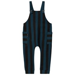 Sproet & Sprout Overalls Turquoise Painted Stripe