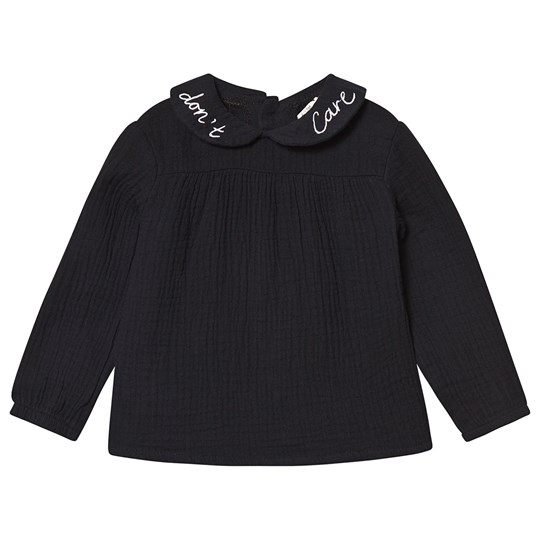 Sproet & Sprout Peter Pan Don´t Care Long Sleeve Top in Black Black