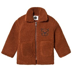 Sproet & Sprout Panther Teddy Fleece Jacket Brown