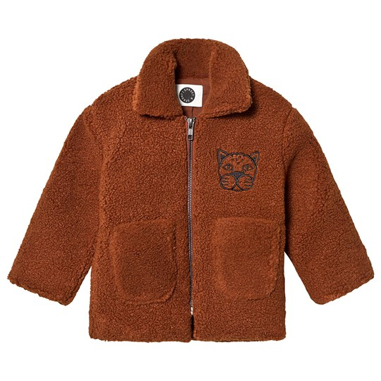 Sproet & Sprout Panther Teddy Fleece Jacket Brown Mocha