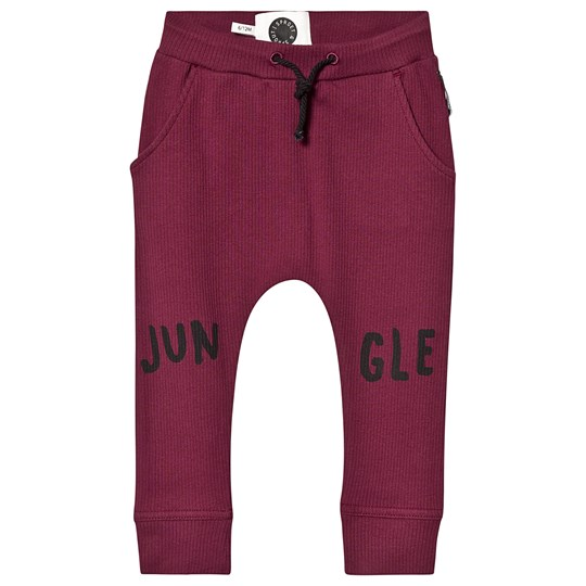 Sproet & Sprout Jungle Knee Patch Ribbed Leggings Burgundy Burgundy