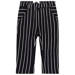 Sproet & Sprout Striped Ribbed Pants Black/White