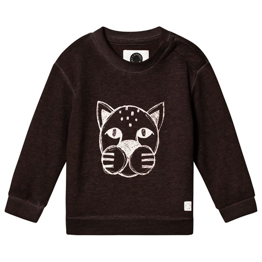 Sproet & Sprout Panther Sweatshirt Black Wash Washed Black