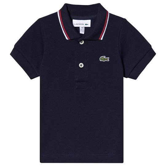 Lacoste Polo Shirt and Croc Rattle Gift Set Navy DB3