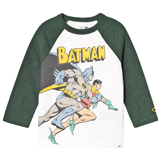 GAP Batman Raglan T-Shirt Off White NEW OFF WHITE