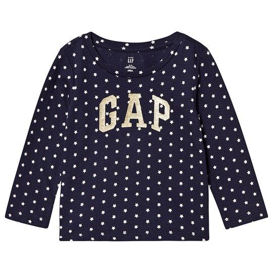 Gap Star T-shirt Marinblå white star print