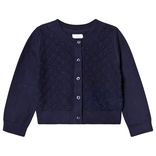 GAP Diamond Print Cardigan Navy Uniform NAVY UNIFORM