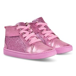 Clarks City Oasis Hi Sneakers Pink Sparkle