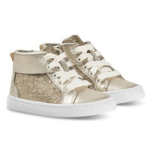 Image of Clarks City Oasis Hi Sneakers Gold Sparkle 35 (UK 2.5) (1371439)