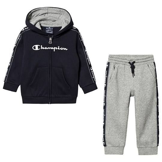 Champion Infant Hoodie and Sweatpants Set Navy/Grey NNY/OXGM