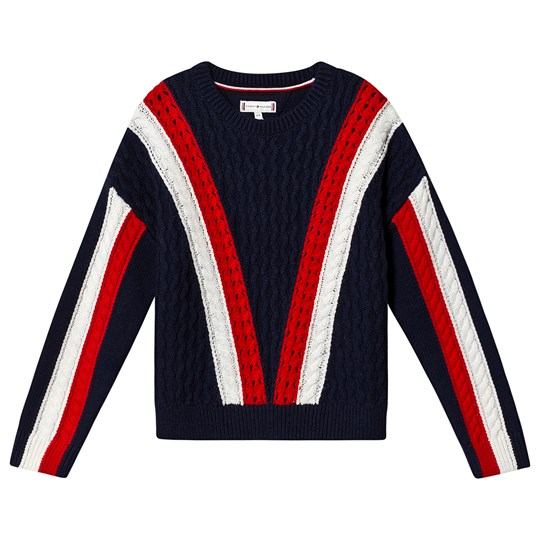 Tommy Hilfiger Color Block Knit Sweater Navy YAL