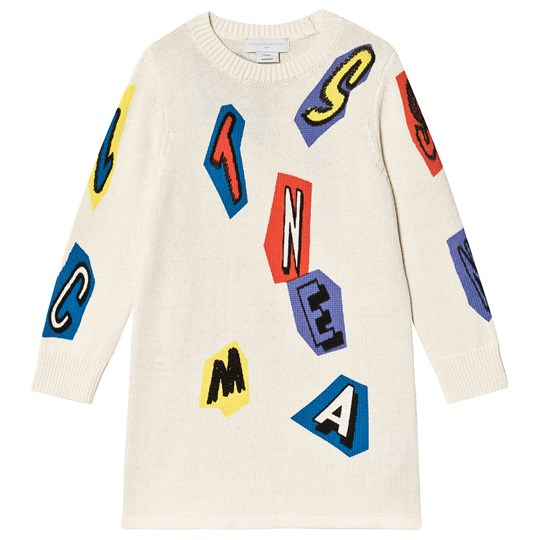 Stella McCartney Kids Retro Logo Jumper Dress Cream 9232