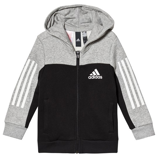 adidas Performance SID Hættetrøje Sort/Grå MEDIUM GREY HEATHER/BLACK