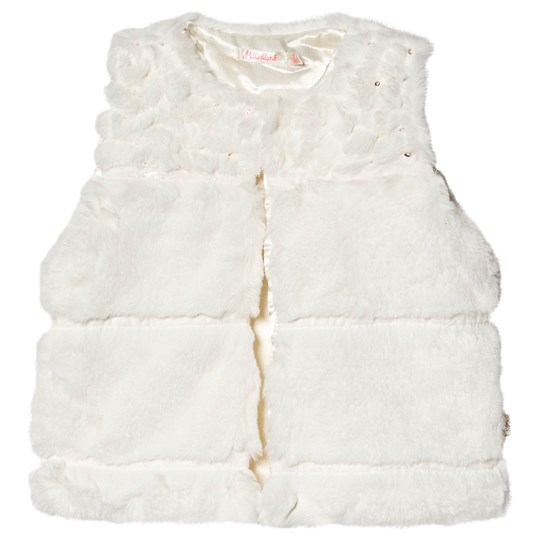 Billieblush Gilet with Sequin Detail Cream 121
