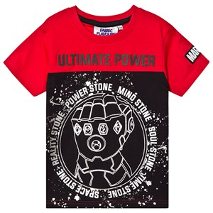 Image of Fabric Flavours Avengers Infinite Power T-shirt Red/Black 5-6 years (1367852)