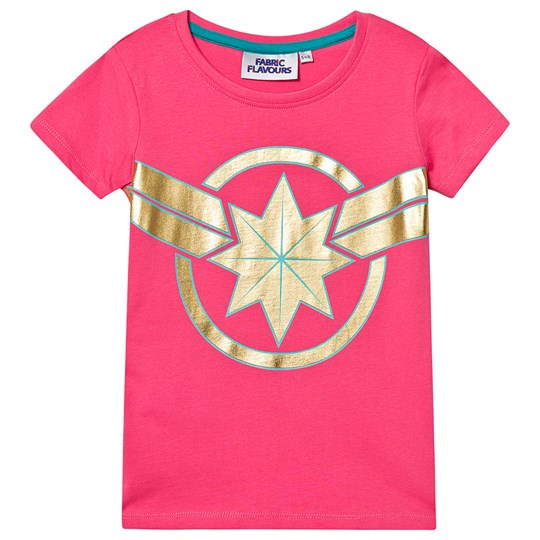 Fabric Flavours Captain Marvel T-shirt Pink Pink
