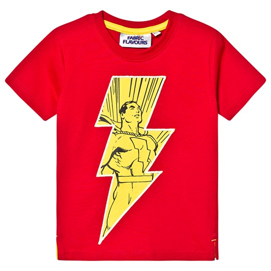 Fabric Flavours Shazam! I'm a Superhero T-Shirt Red Punainen