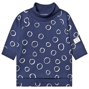 Image of Indikidual Snow Print Rullekrave Sweater Navy 6-12 months (1361666)
