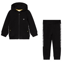 BOSS Hugo Boss Tape Logo Tracksuit Black