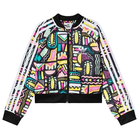 adidas Originals Retro Print Cropped Track Jacket Green MULTICOLOR/WHITE