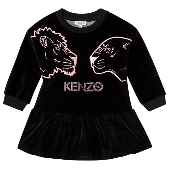 Kenzo Tiger Velour Dress Black 04